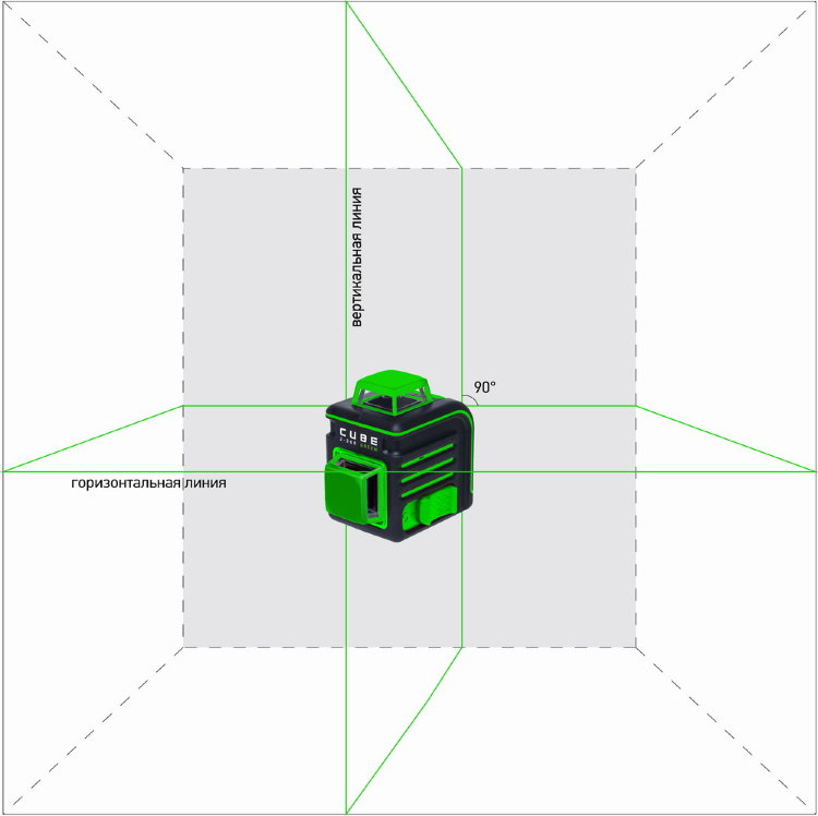 Лазерный уровень (нивелир) ADA CUBE 2-360 Green ULTIMATE EDITION